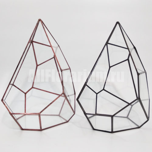 Геометрическая ваза для флорариума Капля асимметричная