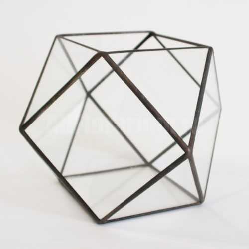 Геометрическая ваза для флорариума Кубооктаэдр