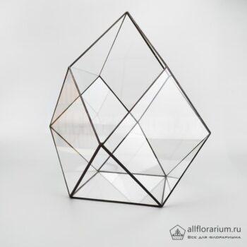 Геометрическая ваза для флорариума Кубооктаэдр вытянутый