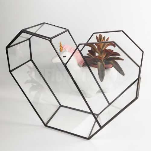 Геометрическая ваза для флорариума Сердце