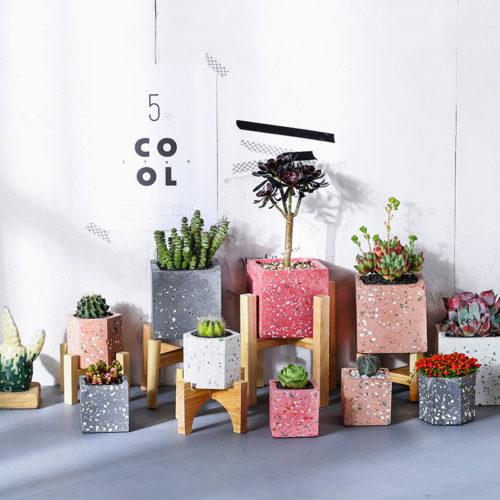 Горшки для растений Цветные грани