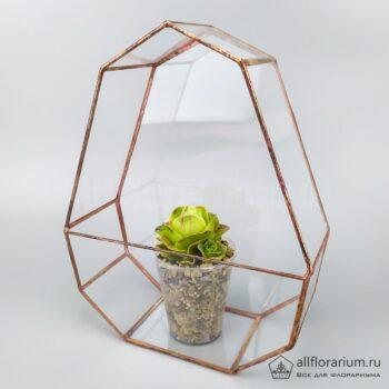 Геометрическая ваза Яйцо плоское с гриновией