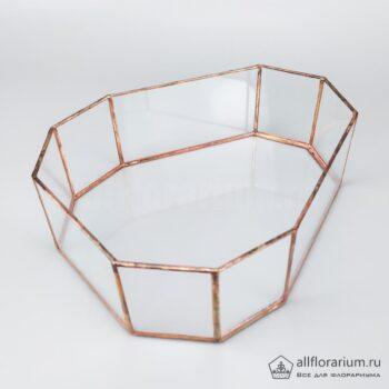 Геометрическая ваза Яйцо плоское открытое