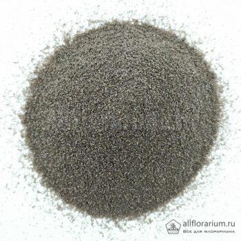 Песок мелкий чёрный