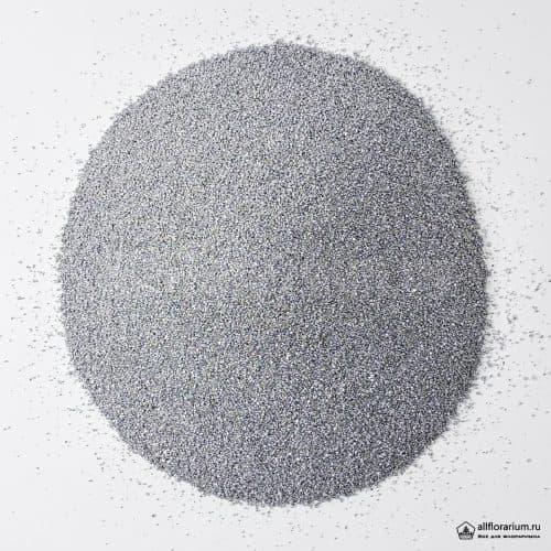 Песок мелкий серебристый - Все для флорариума