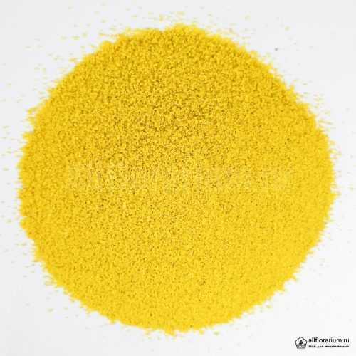 Песок мелкий жёлтый - Все для флорариума
