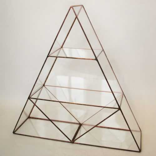 Полка из стекла Треугольник