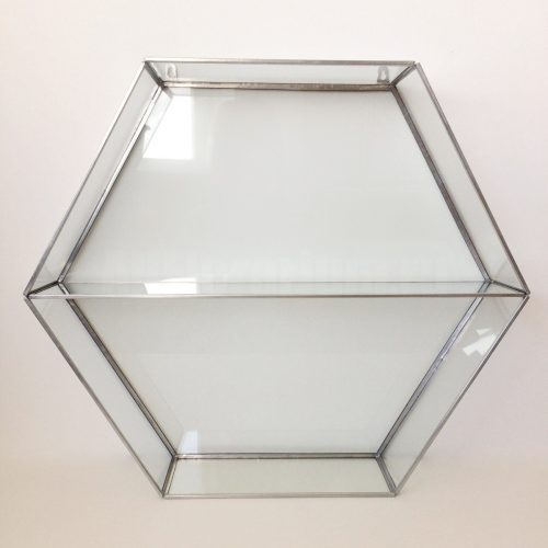 Полка из стекла подвесная Сота