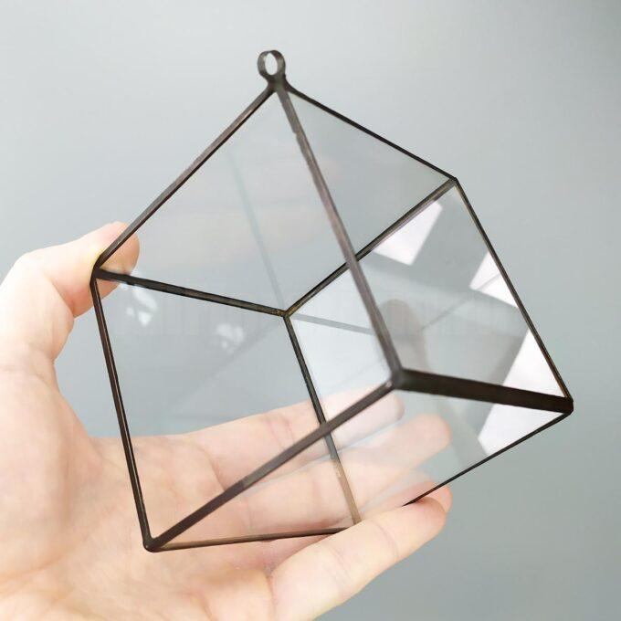 Подвесной куб ваза геометрическая