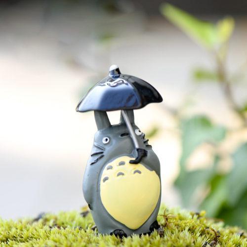 Декоративная фигурка для флорариума Тоторо под зонтом